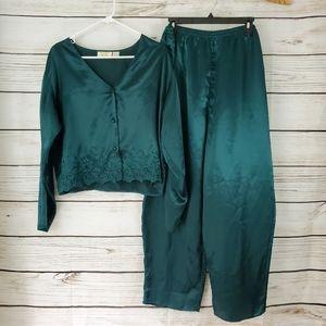 Victoria's Secret | Vintage Emerald Green Pajamas